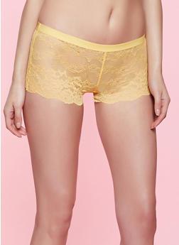 Caged Keyhole Lace Panty - 1176035162814