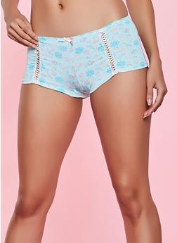 Mint Printed Boyshort Panty - 1176064871664