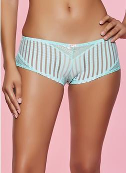 Shadow Stripe Lace Trim Panty - 1176064872946