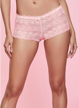 Solid Lace Boyshort Panty - 1176064873731
