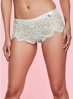 Elastic Band Lace Boyshort Panty - 1176068064935