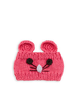 Mouse Knit Head Wrap - PINK - 1183042740070