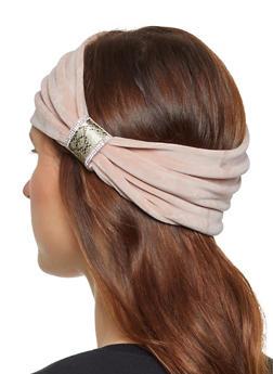 Velvet Rhinestone Head Wrap - 1183042747000