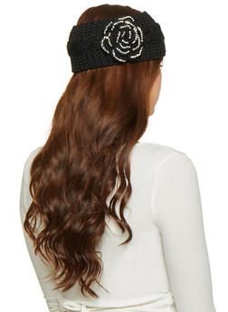 Rhinestone Flower Headwrap - 1183042747818