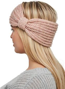 Rhinestone Knit Head Wrap - 1183057699902