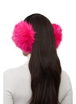 Faux Fur Earmuffs - FUCHSIA - 1183067444818