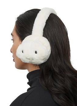 Cloud Faux Fur Earmuffs - WHITE - 1183067444924