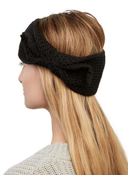 Solid Knit Bow Head Wrap - 1183067444930