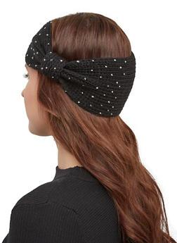 Studded Knit Headwrap - BLACK - 1183071210012