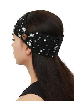 Bejeweled Knit Head Wrap - 1183071210061