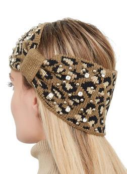 Studded Leopard Head Wrap - 1183071210064