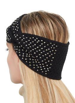 Studded Twist Front Head Wrap - 1183071210065