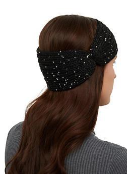 Knit Sequin Head Wrap - 1183071213700