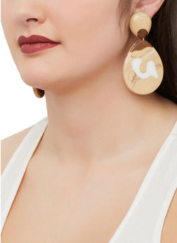 Marbled Teardrop Earrings - 1190003203968