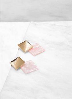 Geometric Resin Earrings - 1190071218029