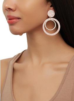 Layered Rhinestone Circle Earrings - 1190071218114