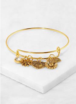 Metallic Charm Bracelet - 1191063092219