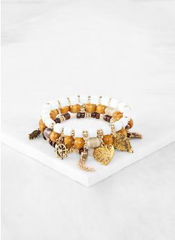 Charm Beaded Stretch Bracelets - 1191064162516