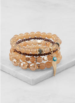 Charm Beaded Stretch Bracelets - 1191064162516