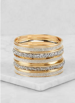 Plus Size Druzy Bangles Set - 1193018433465