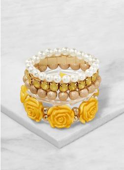 Assorted Flower Stretch Bracelets - 1193035151958