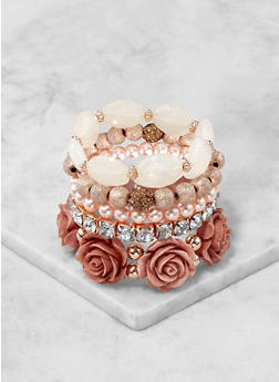 Beaded Stretch Bracelets - 1193035156845