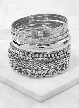 Assorted Textured Metallic Bangles - 1193062922412