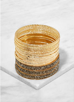 Set of Assorted Druzy Bangles - 1193062926536