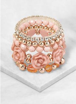 Set of 5 Assorted Stretch Bracelets - 1193071433033