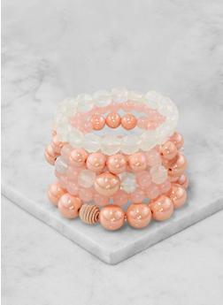 Set of 5 Beaded Stretch Bracelets - 1193071433922