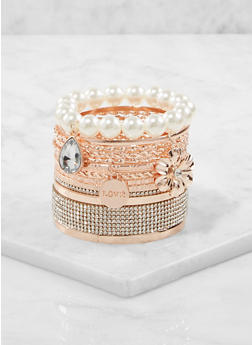 Plus Size Set of Assorted Bracelets - 1193072693807