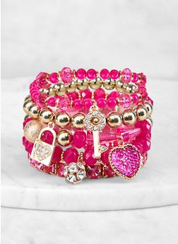 Charm Beaded Stretch Bracelets - 1193072694008
