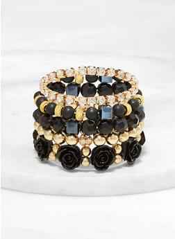 Flower Beaded Bracelets - 1193073843272