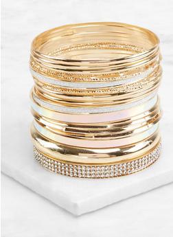 Set of Metallic Iridescent Bangles - 1193074179494