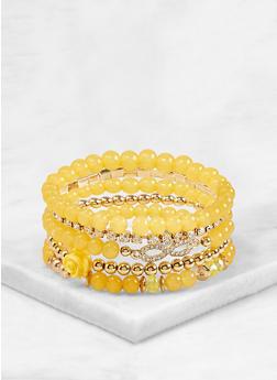 Beaded Rhinestone Stretch Bracelets - 1193074759120