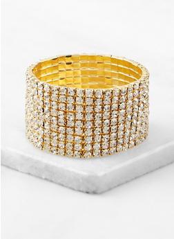 Rhinestone Stretch Cuff Bracelet | 1194003208014 - 1194003208014