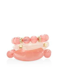 Large Beaded Stretch Bracelets - 1194035154283