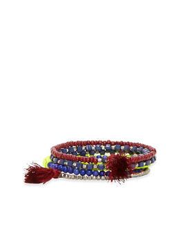 Tassel Beaded Bracelet - 1194044092592
