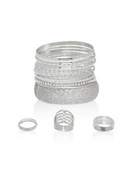 Glitter Cuff Bracelets and Rings - 1194057695581