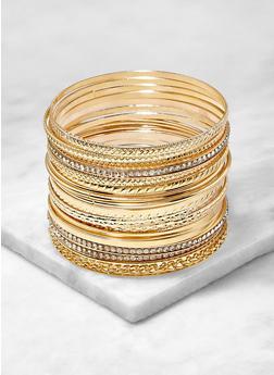Set of 20 Assorted Metallic Bangles - 1194062812446