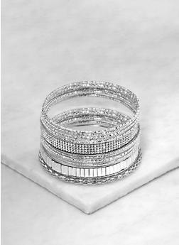 Women Silver Bangle Bracelets