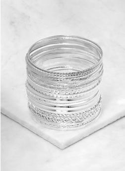 Plus Size Metallic Bangles - 1194062817485