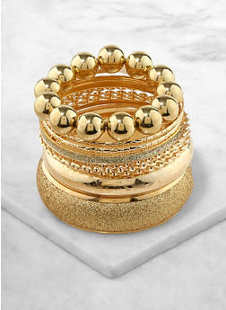 Plus Size Glitter Bangles Set - 1194062921198