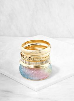 Sequin Glitter Rhinestone Bangles - 1194062921367