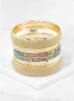Plus Size Glitter Bangles   1194062921371 - 1194062921371