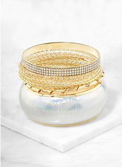 Plus Size Bangle Bracelet Sets