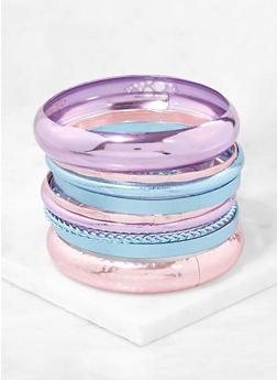 Plus Size Colored Metallic Bangles - 1194062925050