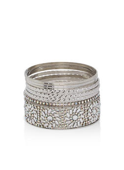 Plus Size Rhinestone Bracelets - 1194062926905