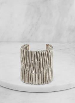 Cord Wrapped Cuff Bracelet - 1194067252131