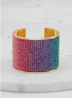 Multi Color Rhinestone Cuff - 1194067253304